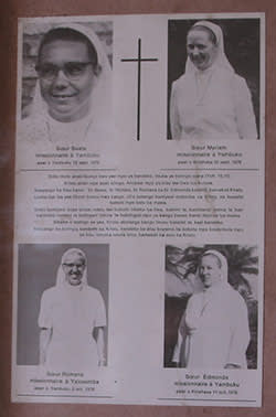 The four nuns killed in the initial oubreak