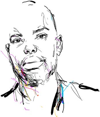 Seb Jarnot's illustration of Ta-Nehisi Coates