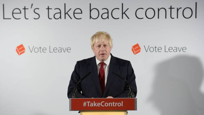 Boris Johnson holds a press conference at Brexit HQ in Westminster, London, after David Cameron has announced he will quit as Prime Minister by October following a humiliating defeat in the referendum which ended with a vote for Britain to leave the European Union. PRESS ASSOCIATION Photo. Picture date: Friday June 24, 2016. See PA story POLITICS EU. Photo credit should read: Stefan Rousseau/PA Wire