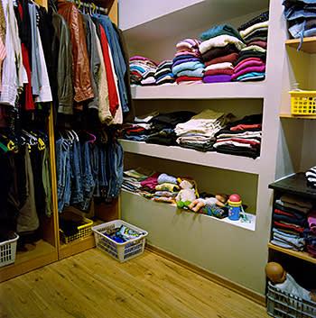 Clothes closet at Hillel office