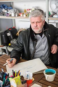 Štefan Klein at the airfield in Nitra