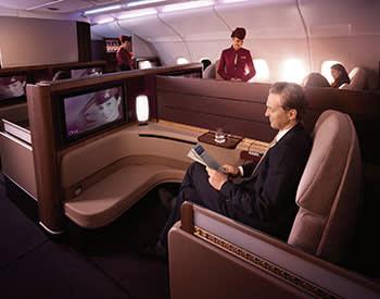First class on Qatar