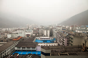 The rooftops of Shennongjia, home to Xiang Ju's mother and brother