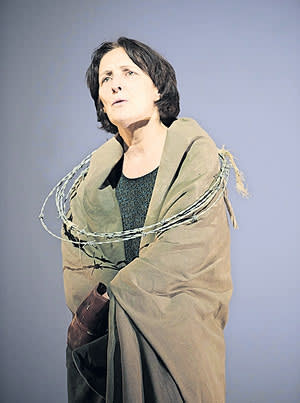 Fiona Shaw in a scene from 'The Testament of Mary'