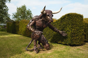 A statue in the Garden of Heroes and Villains