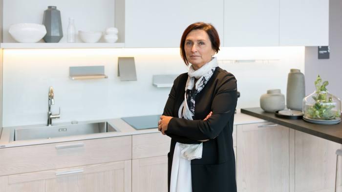 Fabiana Scavolini, Scavolini CEO, in the showroom of the company's main headquarters in via Risara 60/70, Montelabbate, Pesaro. (November the 14th, 2017)
