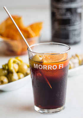 A glass of vermouth