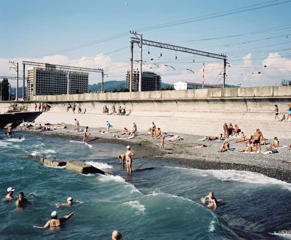 The beach, Adler, Sochi region, 2011