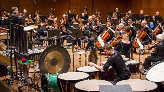 Martin Grubinger performs John Corigliano's 'Conjurer: Concerto for Percussionist and String Orchestra' at Geffen Hall