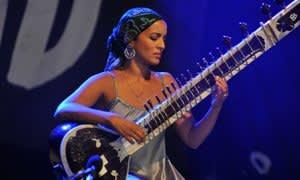 Anoushka Shankar's performance was an instrumental response to the theme of migration. Photo: C Brandon/Redferns