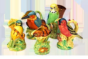 Bird-shaped flower holders
