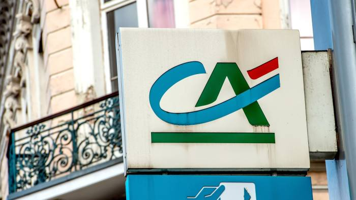A picture taken on August 5, 2014 shows the logo of French bank Credit Agricole in Lille, northern France. The quarterly accounts of Credit Agricole, a shareholder of Portuguese Banco Espirito Santo (BES), were deeply affected after the Portuguese bank was plunged into crisis when allegations of fraud exposed a huge debt hole in its parent group. The situation of BES, saved from bankruptcy over the last weekend at the cost of a total loss of their investment for shareholders, led Credit Agricole to reduce its 14.6% value of participation in the Portuguese bank to zero, and to assume a portion of the quarterly loss record (3.57 billions of Euros) wiped by BES. AFP PHOTO / PHILIPPE HUGUEN        (Photo credit should read PHILIPPE HUGUEN/AFP/Getty Images)