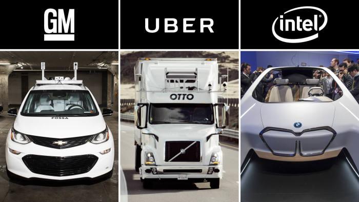 Cruise (GM), Otto (Uber) and Mobileye (Intel)