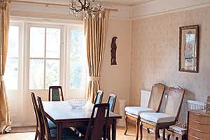 Indarjit Singh's dining room