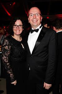 With Karen at the Vanity Fair Oscar party, 2014