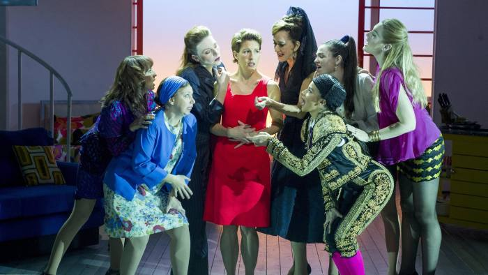 Tamsin Greig, centre, in 'Women on the Verge of a Nervous Breakdown'