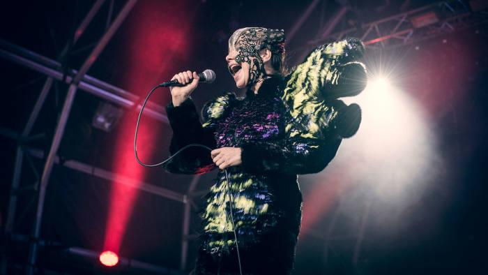 Björk performing last weekend