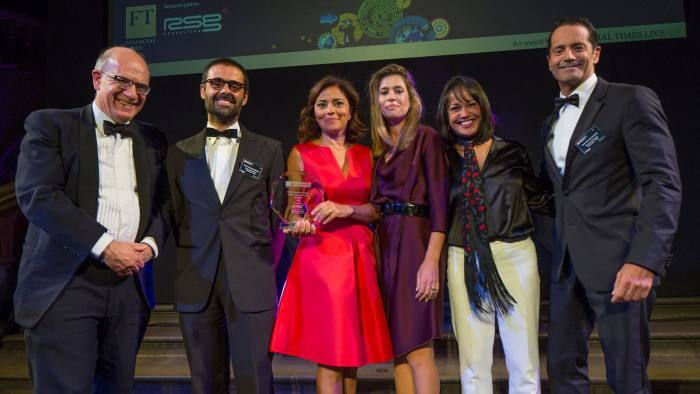 The VdA team, Most innovative European law firm (outside the UK), with Michael Skapinker and Reena SenGupta