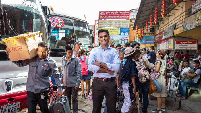 May 30, 2016 - Phnom Penh, Cambodia. Shivam Tripathi, Co-founder and CEO of CamboTicket. © Nicolas Axelrod / Ruom for Financial Times