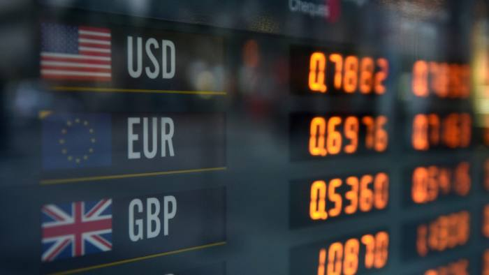 epa05385296 Foreign currency exchanges are seen displayed on a board in Sydney, New South Wales, Australia, 23 June 2016, as Britain heads to the polls to vote on whether to exit the European Union (EU), commonly abbreviated as 'Brexit' (British exit), analysts are tipping both the Euro and the Pound Sterling will fall if the vote to exit succeeds.  EPA/DAN HIMBRECHTS AUSTRALIA AND NEW ZEALAND OUT