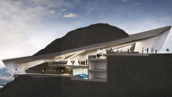 CGI of the Messner Mountain Museum at Plan de Corones in the South Tyrol in northern Italy