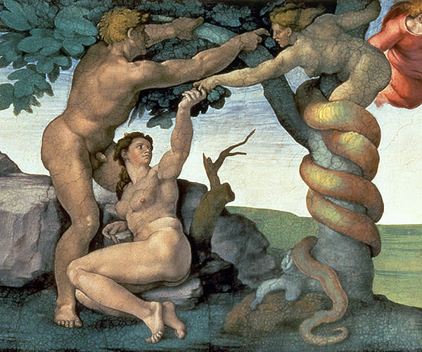 Michelangelo's 'The Fall of Man' (1510), one of the Sistine Chapel frescoes
