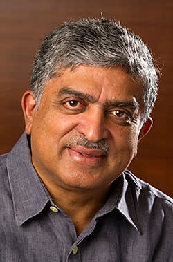 Nandan Nilekani photographed at his home in Bangalore, India on Thursday, August 06, 2015. Photograph by Namas Bhojani