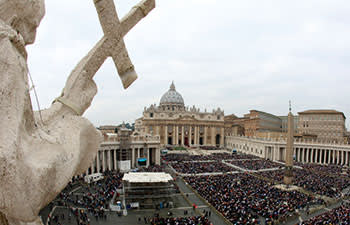 Pope Francis celebrates mass in St Peter's Square in October