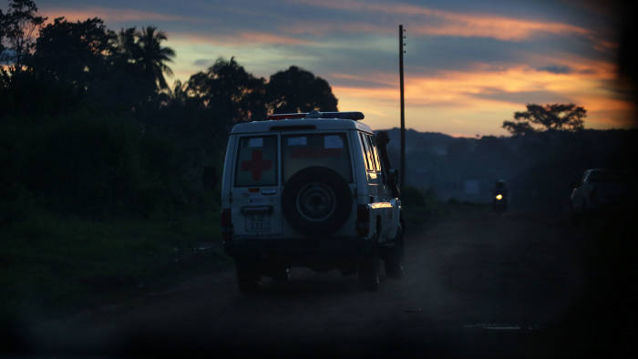 Life or death: An ambulance heads off on a 20-mile journey to bring a teenage girl in labour to Moyamba government hospital