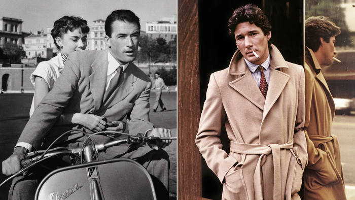 Audrey Hepburn and Gregory Peck in 'Roman Holiday' (1953); Richard Gere in 'American Gigolo' (1980)