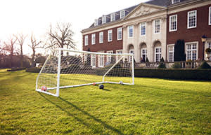 Goalposts and football used by John Kerry and Sergei Lavrov between meetings