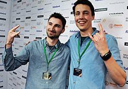 Bram de Zwart (left) and Brian Garret, 3D-print pioneers