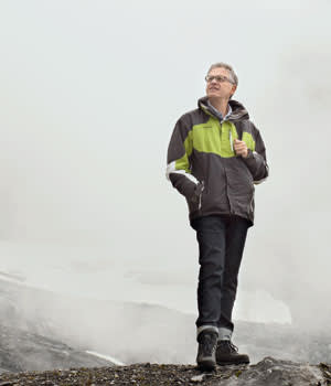 Thomas Stocker, co-chair IPCC Working Group 1, in Jungfraujoch, Switzerland