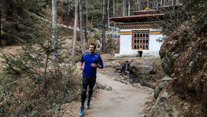 Trail running in Bhutan