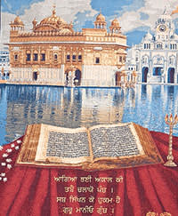 Wall hanging of the Golden Temple
