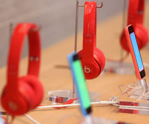 Red Beats by Dre headphones