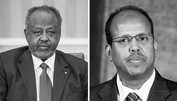 From left: Djibouti's president Ismaïl Omar Guelleh seeks re-election this month; foreign minister Mahmoud Ali Youssouf