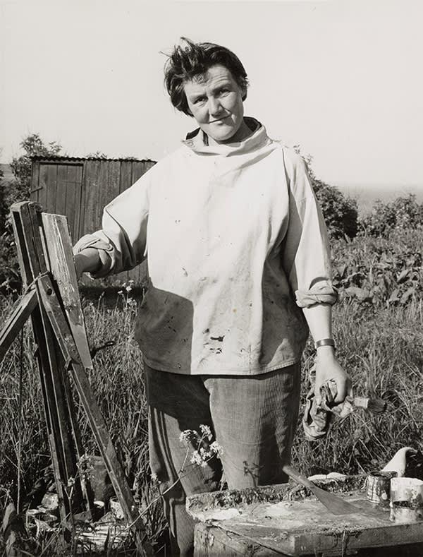 Eardley at work in her Catterline garden
