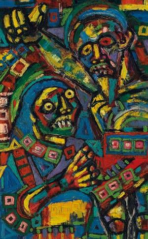 'Pieta' (1947) by FN Souza