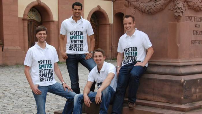 Mannheim Business School MBA graduates: Moritz Hertler, Alistair Bruce, Christian Uhrich and Stefan Reuter