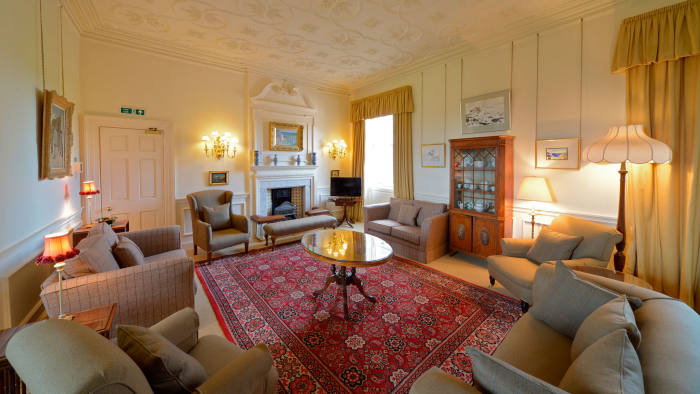 The lounge in the castle's Preston Tower apartment