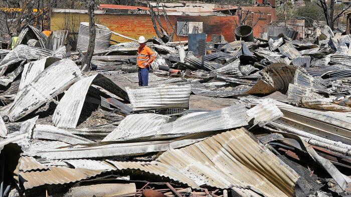 Devastating: property damage after the Black Saturday bushfires in Bendigo, Victoria