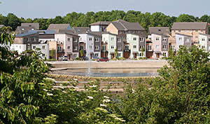 New homes on the Lakeview estate in Milton Keynes