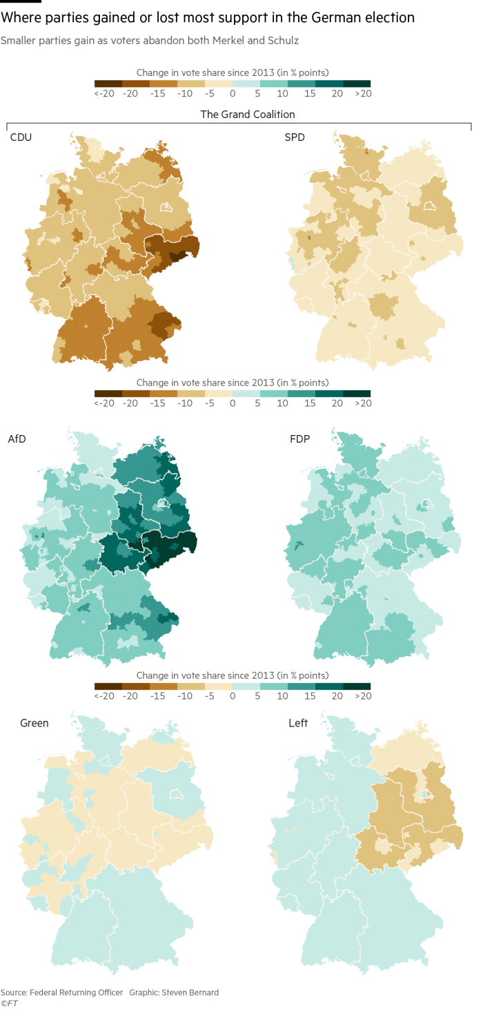 Germanys Election Results In Charts And Maps - Germany political map