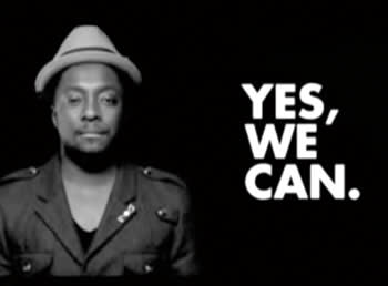 The 'Yes We Can' video, based on a Barack Obama speech, attracted 24 million views on YouTube