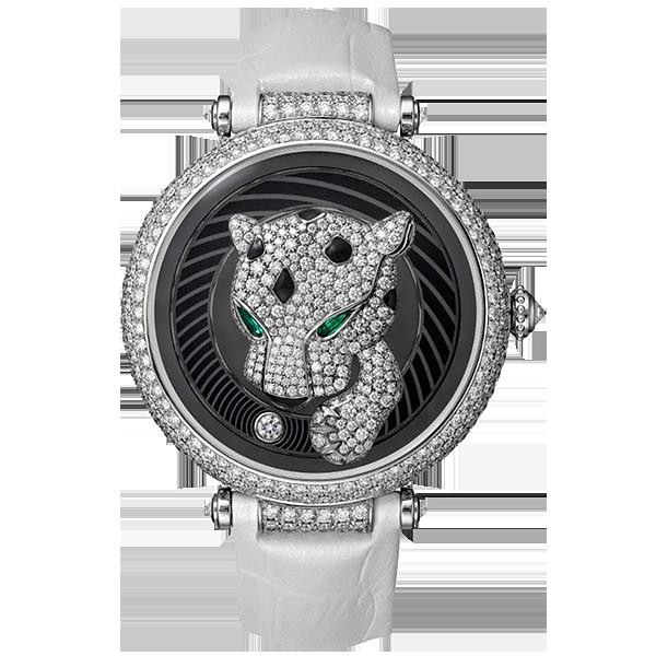 The hand-less Panthère Joueuse de Cartier watch