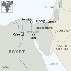 Violence spirals as Egypt's army and militants clash in Sinai