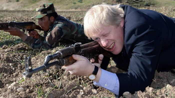 Image result for Boris johnson pictures visiting military barracks northern ireland