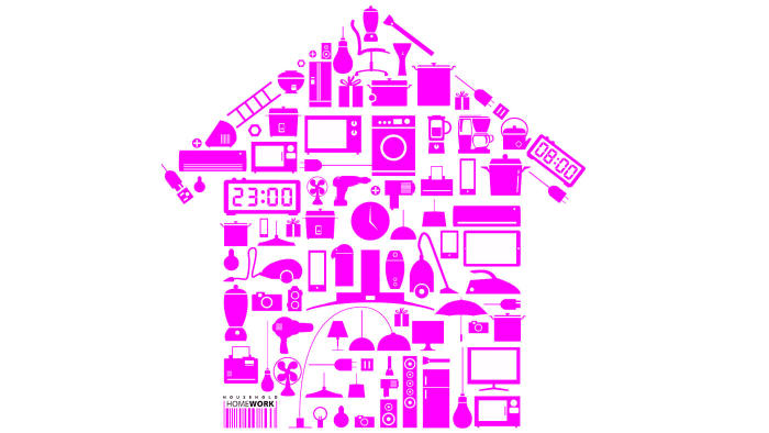 Design element household in home shape