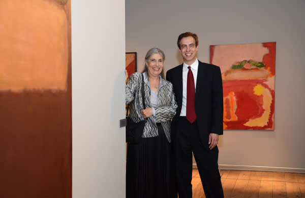 Mark Rothko's children, Kate Rothko Prizel and Christopher Rothko, with 1948's 'Untitled (Multiform)'